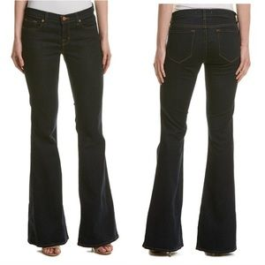 J Brand Super Dark Wash Low Rise Flare Jeans